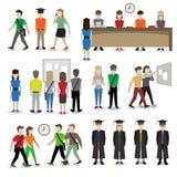 University people avatars Stock Image