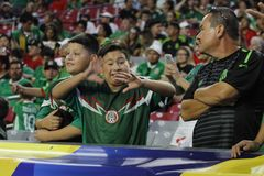 Mexico soccer fans Royalty Free Stock Image