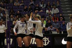 University of Portland volleyball Stock Images