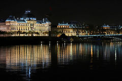 University and the Rhone river Royalty Free Stock Photo