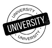 University rubber stamp Stock Image
