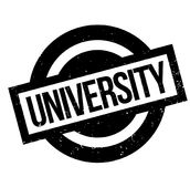 University rubber stamp Royalty Free Stock Photography
