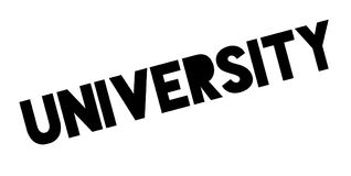 University rubber stamp Stock Image