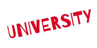 University rubber stamp Stock Images