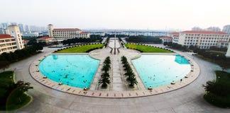 A University's landmark. It's Shanghai Lixin University's Landmark.It called The Pillar of Credibility And Integrity Royalty Free Stock Photos