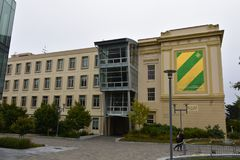 The University of San Francisco, 2. Starting out as just a one-room school house on what is now downtown San Francisco, under the name of Saint Ignatius Academy stock photo