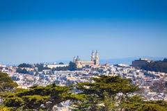 University of San Francisco view over city. University of San Francisco view of the city panorama, California USA Stock Photography