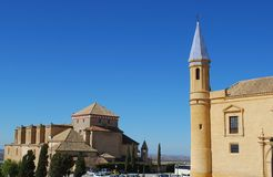 University and Santa Maria church, Osuna, Spain. Royalty Free Stock Photography