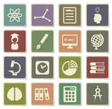 University simply icons. University vector icons for web sites and user interface Royalty Free Stock Photos