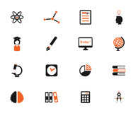 University simply icons Stock Images