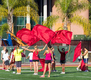 University of Southern California Flag Twirlers stock images