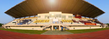 University sports day in the outdoor stadium Royalty Free Stock Photography