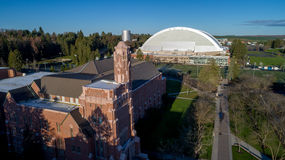 University sports facilities including a football dome. University of Idaho dome and sports building Royalty Free Stock Photo
