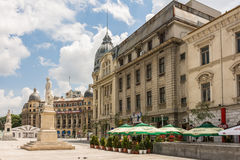 University Square In Bucharest Royalty Free Stock Photos
