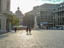 University Square in Bucharest, Romania. Royalty Free Stock Images