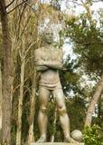 University Stadium, Lisbon, Portugal: the sportsman. Monument to the the sportsman in the University Stadium in Lisbon, Portugal. It is a statue in bronze from stock images
