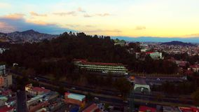 University of State of mexico. Aerial shoot of the state of mexico university, buildings and facilities in a small mountain called coatepec stock video footage
