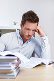 University student with books Royalty Free Stock Image