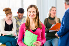 University Student in class with professor Royalty Free Stock Photography