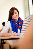 University student in classroom Stock Images