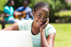 University student computer Stock Images