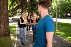 University Student Friends Stock Photos