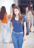 University student. Happy female student at the university Royalty Free Stock Image
