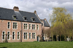 University student lodgings. Old beguinage houses used as university students lodgings Stock Photo