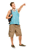 University student man back to school Royalty Free Stock Photos