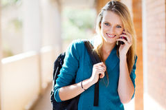 University student on the phone Stock Photography