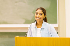 University student speech Stock Image