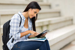 University student tablet computer Stock Photo