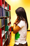 University student is thiking about what to read Stock Photos
