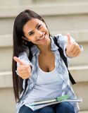 University student thumbs up Stock Images