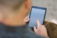 University Student Using Digital Tablet Stock Photo