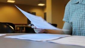 University student writing schedule plan. Inside school stock video footage