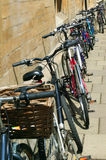 University students bicycles Stock Photos