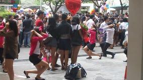 University students celebrate their graduation. BANGKOK - AUGUST 25: University students celebrate their graduation on August 25, 2012 in Bangkok, Thailand stock footage