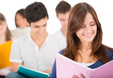 University students in a class Stock Image