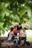 University students meeting and preparing test Royalty Free Stock Photos