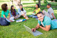 University students studying at campus Royalty Free Stock Images