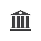 University symbol. icon , solid logo illustration, pictogr Royalty Free Stock Image