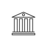 University symbol. line icon, outline  logo illustration, Stock Image