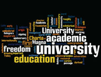University. tag cloud Royalty Free Stock Photos