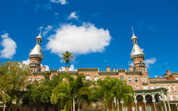 University of Tampa. Towers against a bright cloudy sky Royalty Free Stock Photo