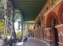 UNIVERSITY OF TAMPA, FRONT. Outside front porch of Plant Hall main academic and administrative building Stock Photos