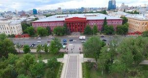 University of Taras Shevchenko cityscape sights in Kyiv of Ukraine stock video footage