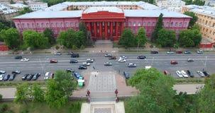 University of Taras Shevchenko cityscape sights in Kyiv of Ukraine stock footage