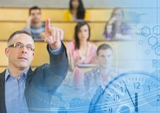 University teacher with class royalty free stock photography