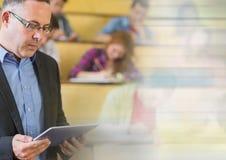 University teacher with class stock photo